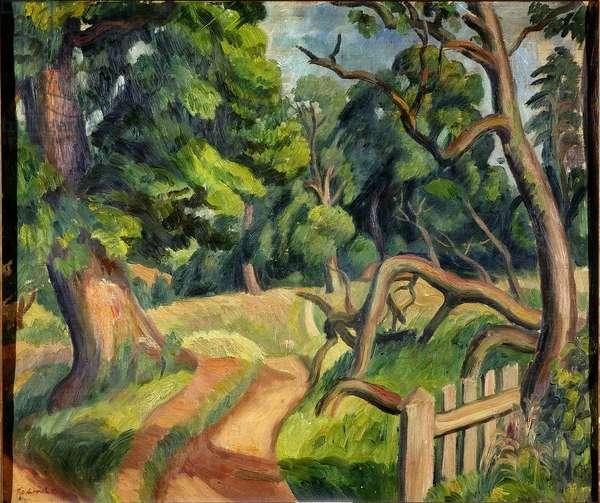 The Elm Tree, 1930 (oil on canvas)