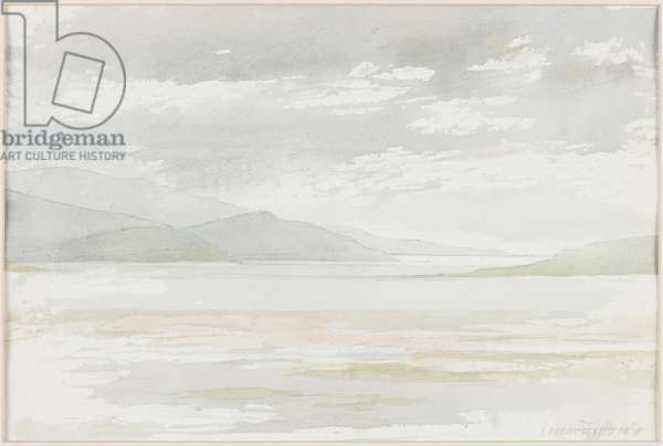 The Solway from Balcary Bay, 1975 (pencil & w/c on paper)
