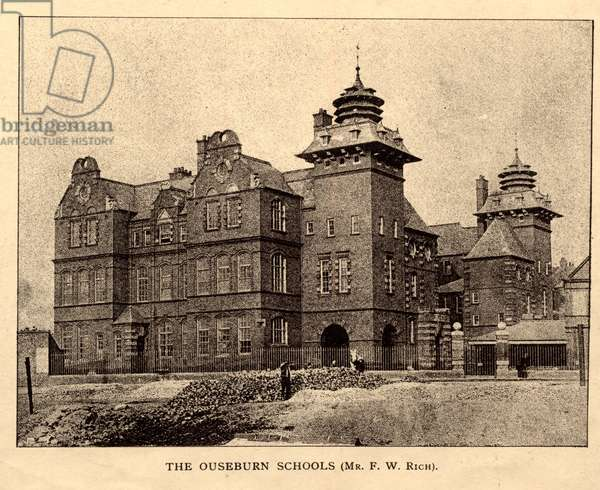 The Ouseburn Schools, The Architecture of Newcastle-on-Tyne, from 'The Builder', 8th October, 1898 (photolithographic print)