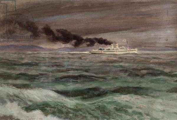 Hospital Ship, 1944 (oil on board)