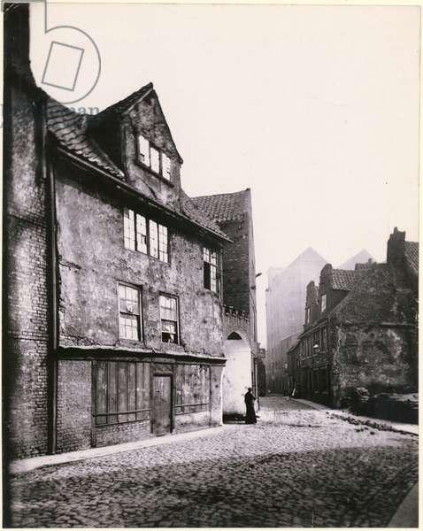 View of Stockbridge, looking east, Newcastle upon Tyne, 1880 (b/w photo)