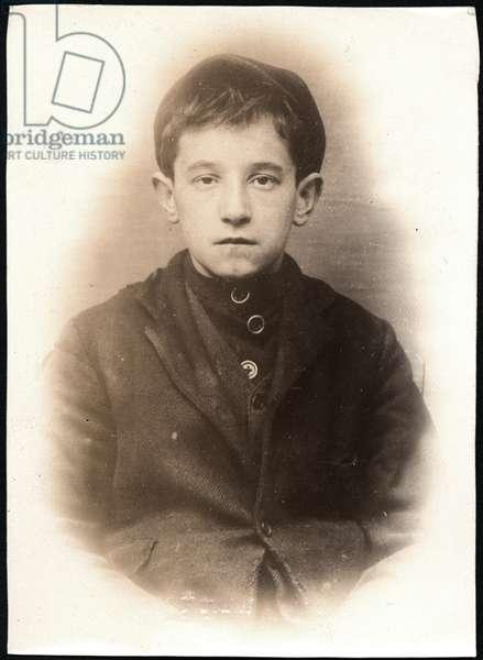 William Wade alias Nursay, arrested for stealing money, North Shields, UK, 1906 (b/w photo)