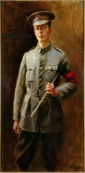 Young man in Uniform, 1915 (oil on canvas)