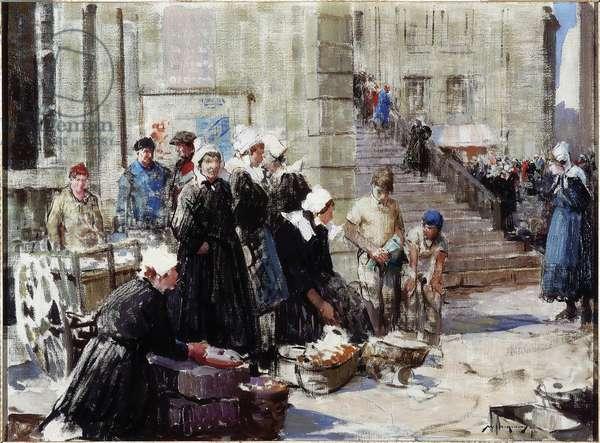 Butter Market, Concarneau, c.1939 (oil on canvas)