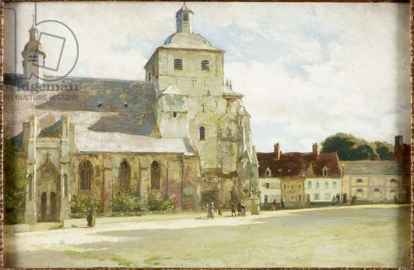 Church at Montreuil-sur-Mer (oil on panel)