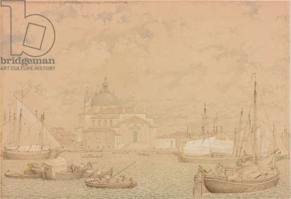 Reminiscence of Venice from a Sketch Made on the Spot in 1842, 1858 (w/c on paper)