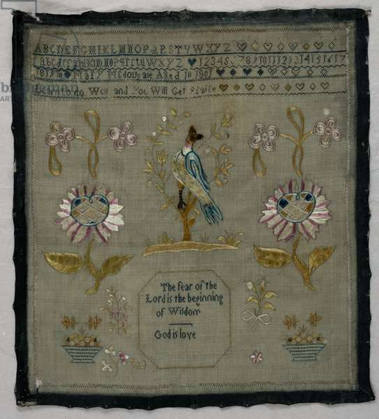 Sampler by Mary Macdougale, 1801 (textile and linen)