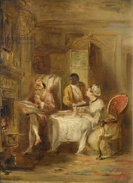 The Invalid's Breakfast (oil on board)