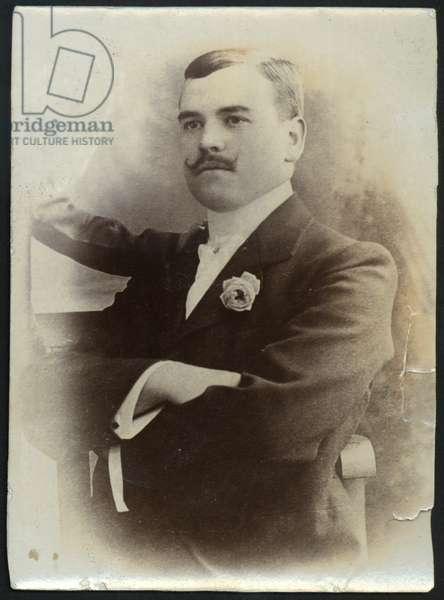 Unidentified prisoner, presumed to be North Shields, UK, c.1905 (b/w photo)