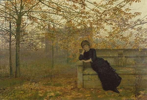Autumn Regrets, 1882 (oil on canvas)