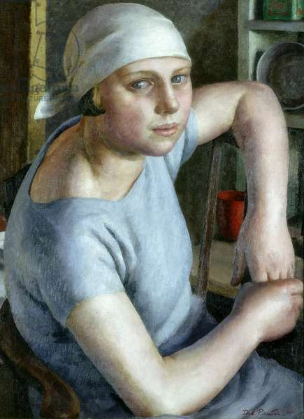 Girl in Blue, 1925 (oil on canvas)