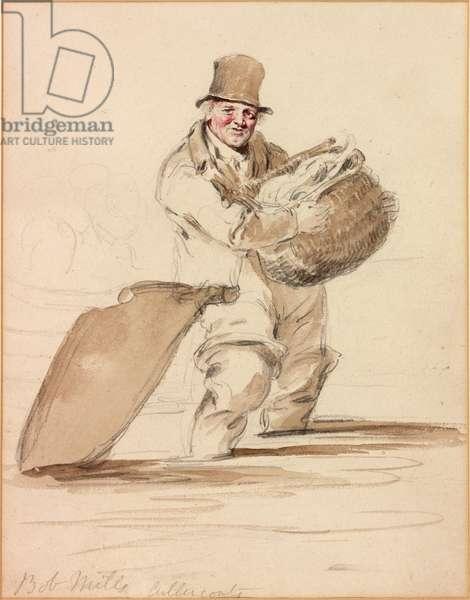 Bob Mills, Cullercoats (pencil and w/c on paper)