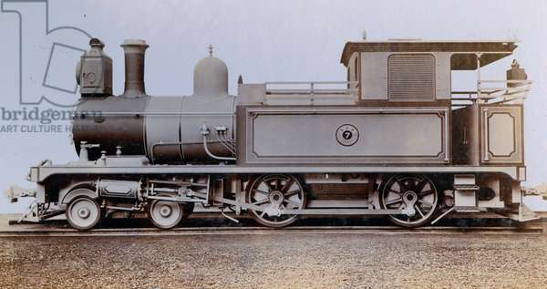 An image of a side tank engine ordered by the Crown Agents for the Colonies in March 1910 (photo)