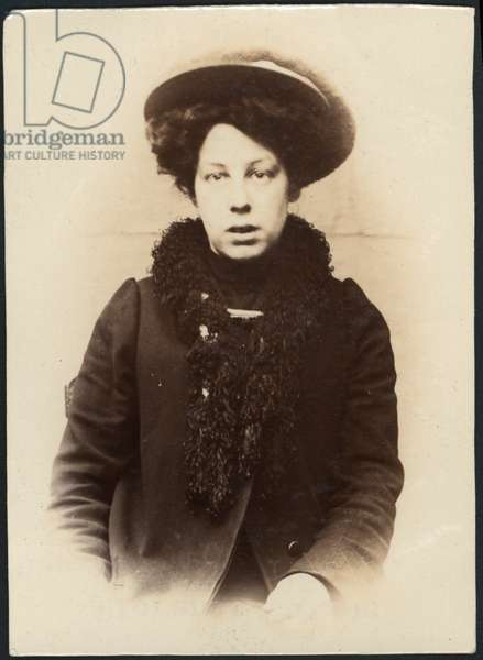 Florence Watson, domestic servant, arrested for stealing, North Shields, UK, 1906 (b/w photo)
