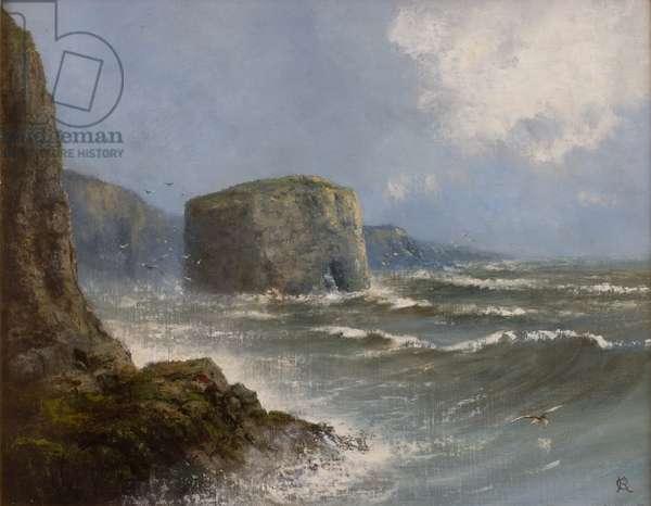 Marsden Rock (oil on board)