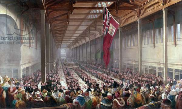 The Banquet given on the Occasion of the Opening of the Grainger Market, Newcastle upon Tyne, c.1835 (oil on canvas)