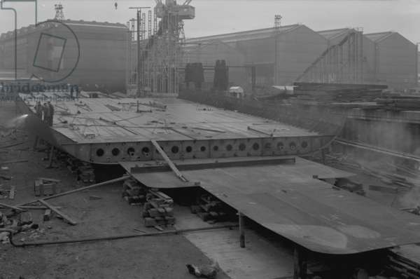 View of the double bottoms of 'Nicola', the first SD14, at Southwick shipyard, Sunderland, 16 October 1967 (b/w photo)