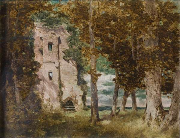 Ruins of Kirkoswald Castle, Cumberland, 1854 (oil on canvas)