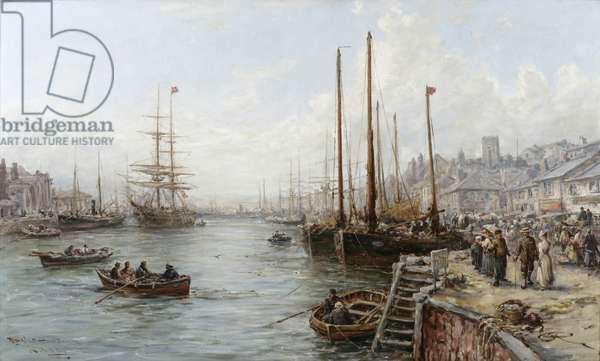 Douglas Harbour, Isle of Man (oil on canvas)