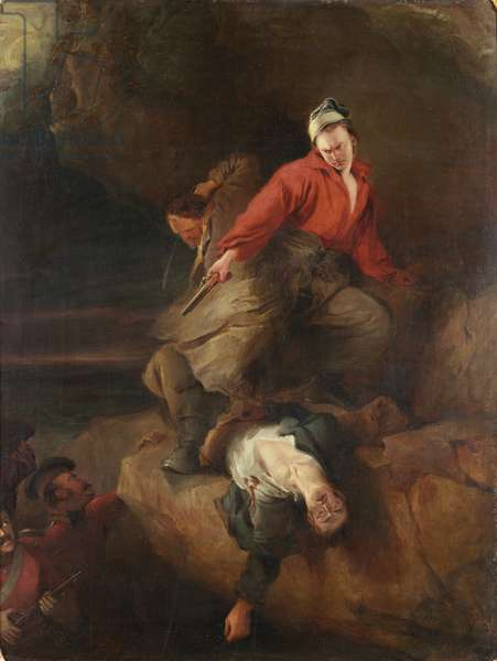 Smugglers attacked, 1827 (oil on canvas)