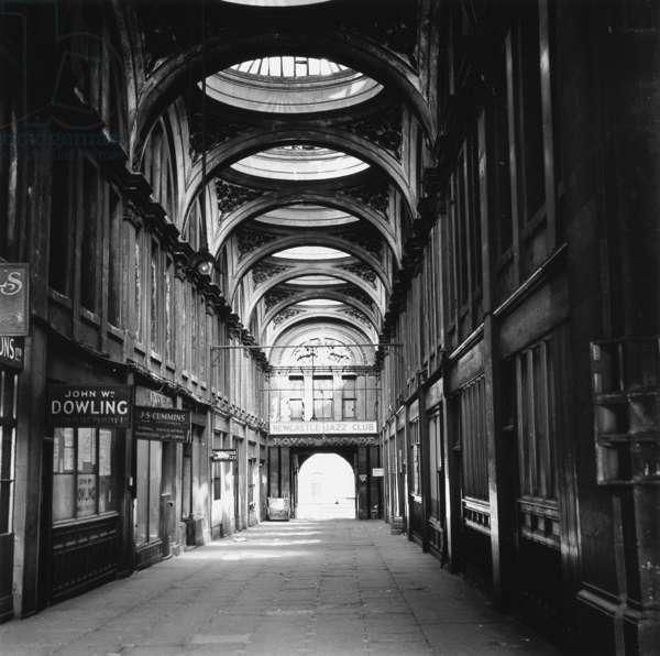 Royal Arcade, Newcastle upon Tyne, 1960 (b/w photo)