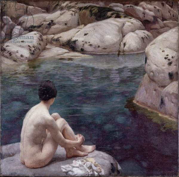 The Bathing Pool, c.1916 (oil on canvas)