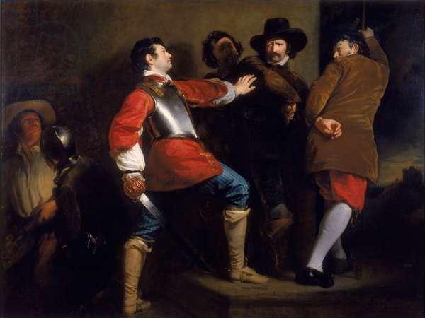 The Discovery of the Gunpowder Plot and the Taking of Guy Fawkes, c.1823 (oil on canvas)