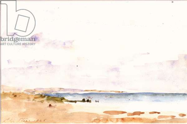 Coast Scene (w/c on paper, pasted on card)