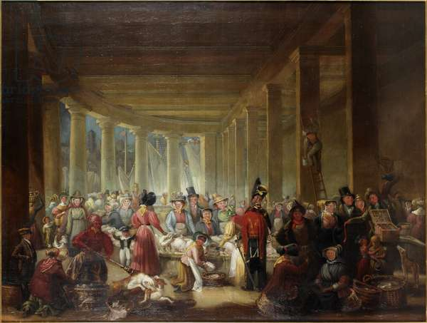 The Old Fish Market, Sandhill, Newcastle upon Tyne, c.1826-30 (oil on canvas)