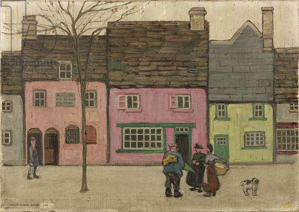 Street Scene, 1920 (oil on canvas)