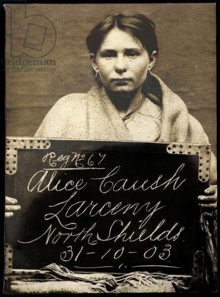 Alice Caush, North Shields, UK, 1903 (b/w photo)