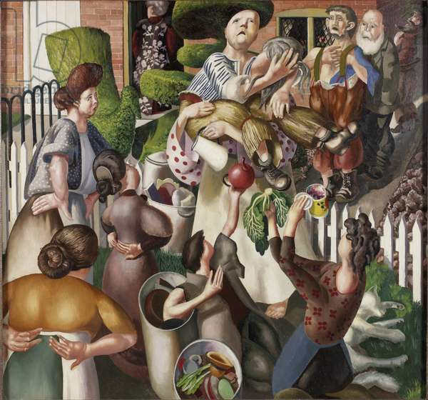 The Lovers (The Dustmen), 1934 (oil on canvas)