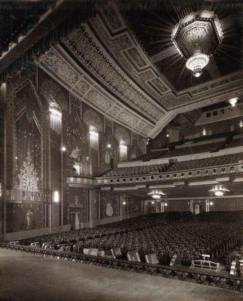 View inside the auditorium at the Paramount Theatre, Pilgrim Street, Newcastle upon Tyne, September 1931 (b/w photo)