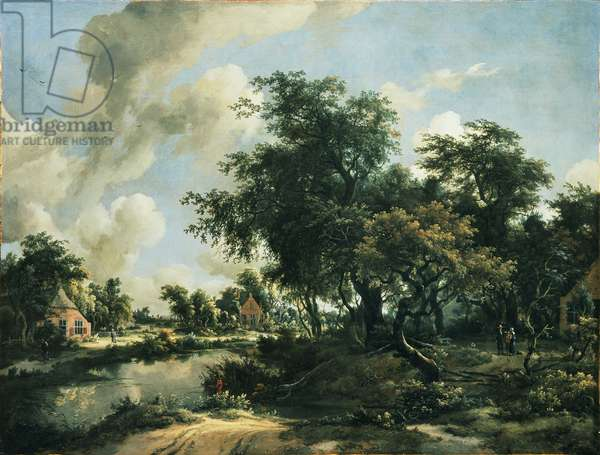 A Stormy Landscape, 1663-65 (oil on canvas)