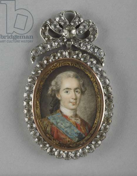 Louis XVI as Dauphin, after L.M. Van Loo, 1769-90 (w/c on ivory with paste gems)