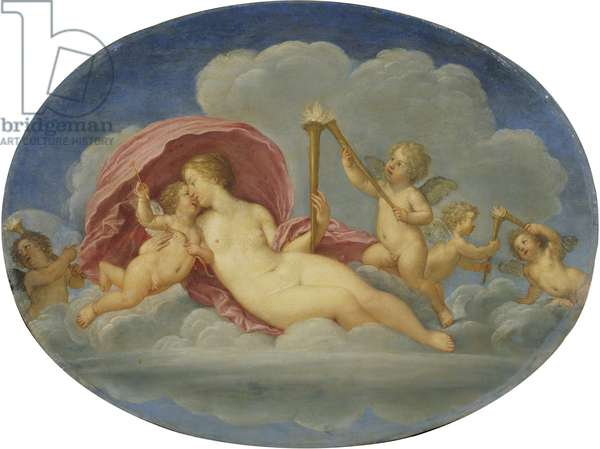 Venus and Cupid, c.1640-45 (oil on copper)