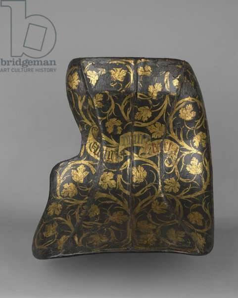 Bouched 'ecranche' shield, c.1485 (wood, iron, leather, gesso and gold)