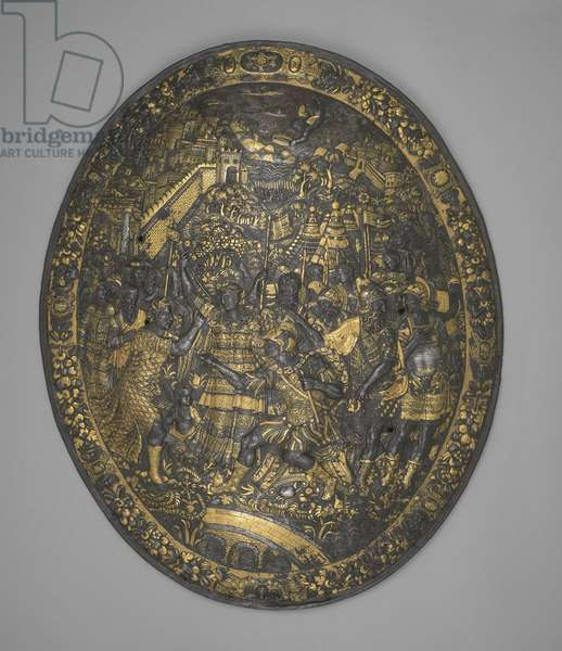 Parade shield of Henry II of France, c.1550-59 (steel, gold, copper alloy and silver)