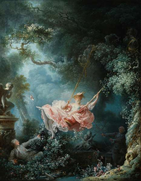 The Swing (Les Hasards heureux de L'Escarpolette), 1767 (oil on canvas)