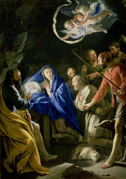 The Adoration of the Shepherds, c.1648 (oil on canvas) (see also 61894)