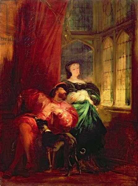 Francis I and Marguerite de Navarre, c.1826-27 (oil on canvas)
