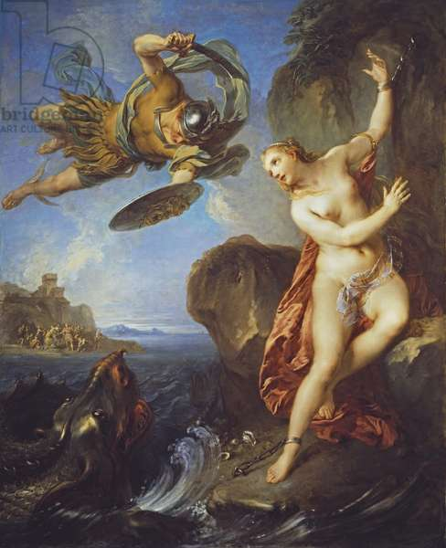 Perseus and Andromeda, 1723 (oil on canvas)