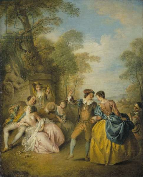 The Dance, c.1730-33 (oil on canvas)