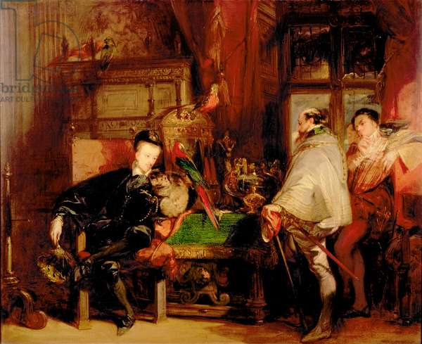Henri III (1551-89) and Don Juan of Austria (oil on canvas)