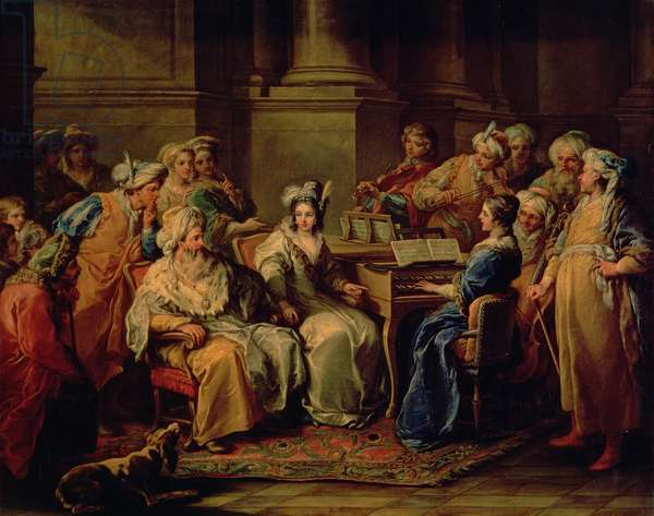 The Grand Turk giving a Concert for his Mistress, 1727 (oil on canvas)