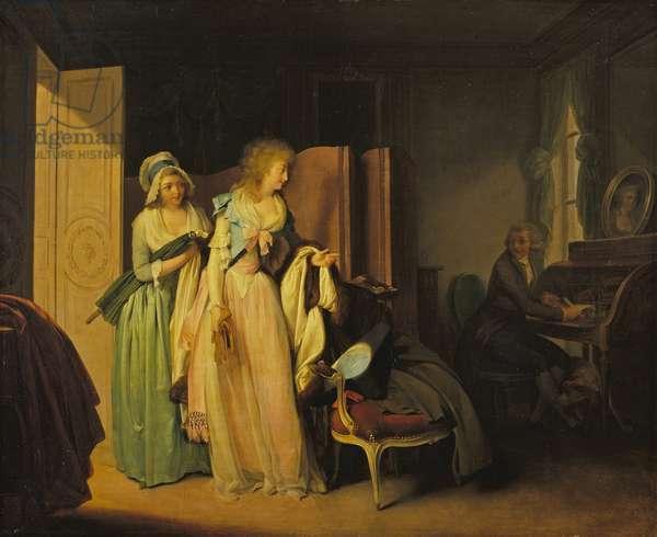 La Visite rendue (The Visit Returned) c.1789 (oil on canvas)