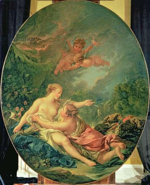Jupiter and Callisto, 1769 (oil on canvas)