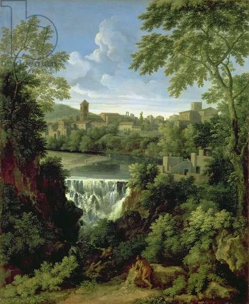 The Falls of Tivoli, c.1661-63 (oil on canvas)