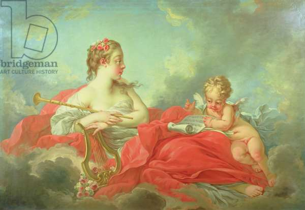 The Muse Clio, c.1750s (oil on canvas)
