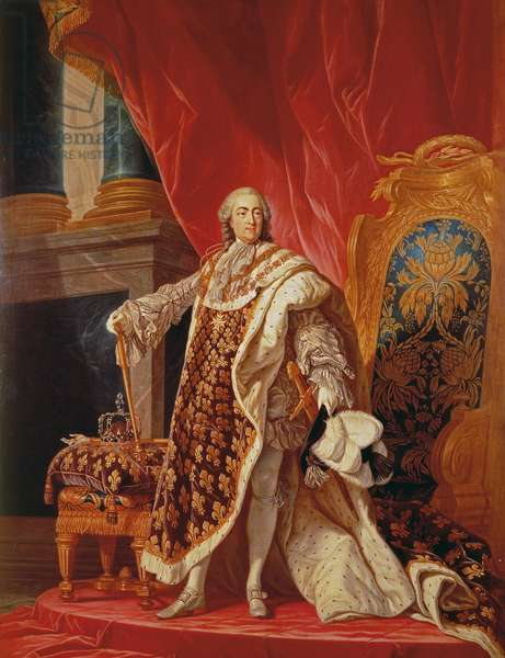 Louis XV in Coronation Robes (oil on canvas)